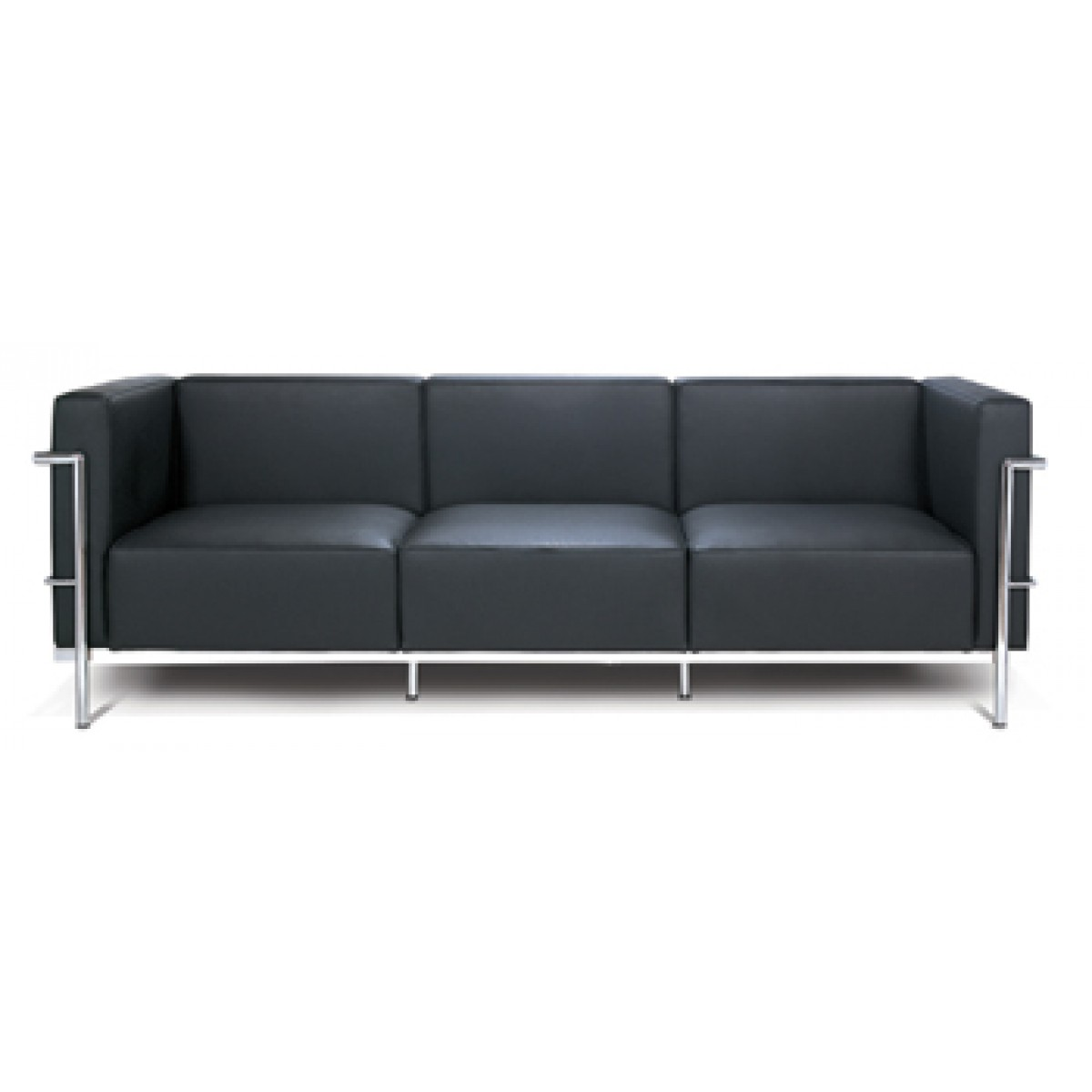 le corbusier style 3 seater sofa. Black Bedroom Furniture Sets. Home Design Ideas