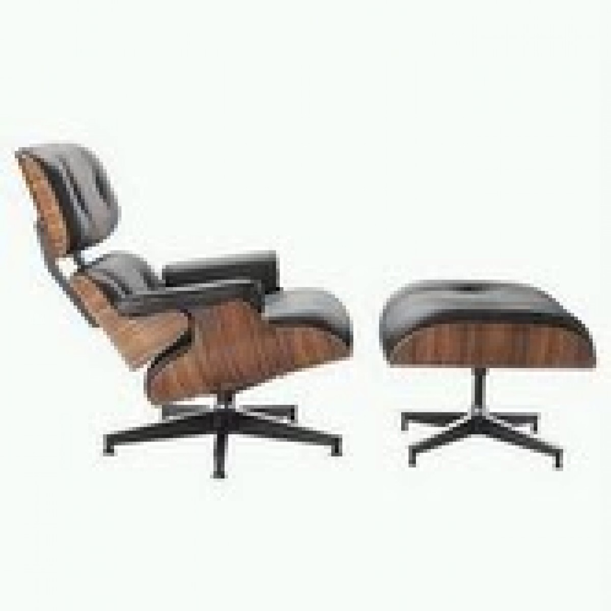 Charles Eames Style Lounge Chair Ottoman