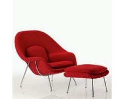 Eero Saarinen Style Womb Chair & Stool