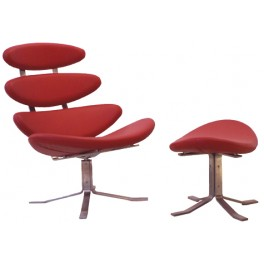 Corona Style Chair & Foot Stool