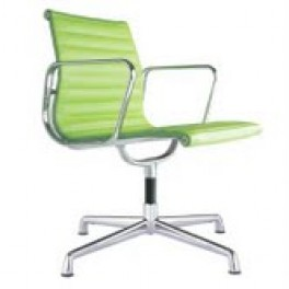 Eames Style Ribbed Chair on Glides with Arms