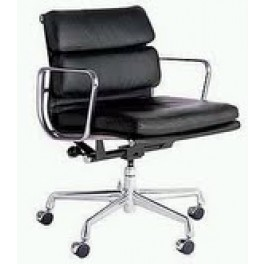 Eames Style Soft Pad Chair on Castors with Arms