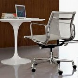 Eames Style Mesh Chair with Castors & Arms